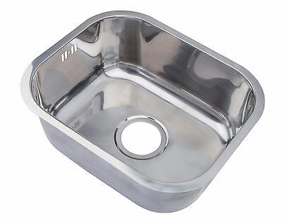 Polished Stainless Steel Undermount Kitchen Sink 1.0 Single Bowl 435x360 A12 mr