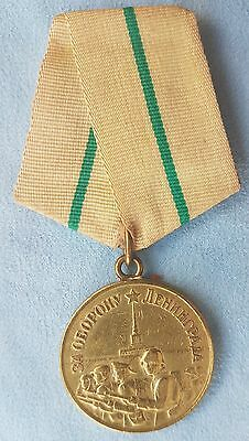 Soviet Russian USSR WWII For the Defence of Leningrad medal order, original