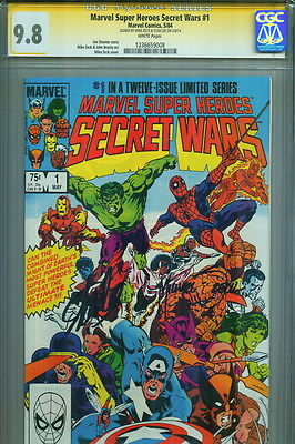 Secret Wars #1 CGC SS 9.8 SIGNED Mike Zeck & Stan Lee Hulk Spiderman Wolverine