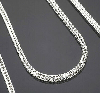 "5PCS Wholesale 16-30"" Jewelry Lot 925 Silver ""FOX TAIL"" Chain Necklace Pendant"