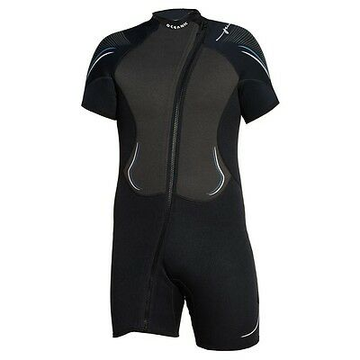 Mens Oceanic Pioneer Size S 3/2mm shorty wetsuit scuba diving