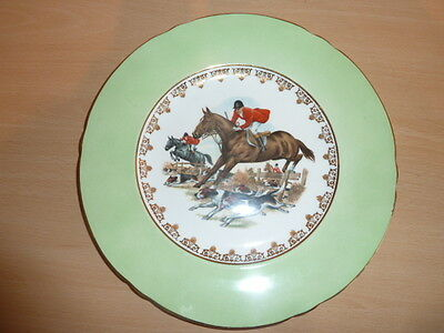 Large Shelley Plate With Hunting Scene