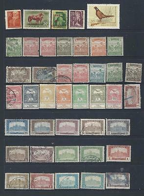 Hungary Lot 1 page of early definitives mint/used,  [278]