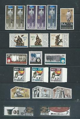Malta lot 1 nice selection of mint (most  UH) stamps in sets good range [262)