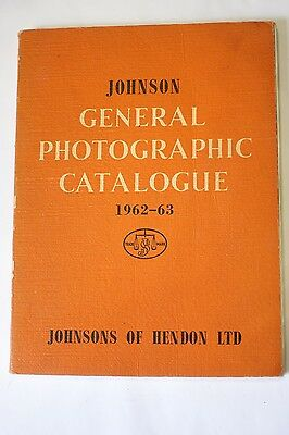 Johnsons of Hendon, Johnson Gerneral Photographic Catalogue 1962-63