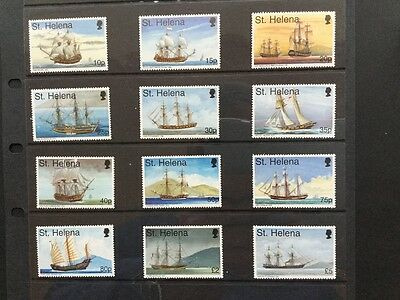 Stamps of St Helena definitive set of 12 Maritime Heritage 1998 unhinged mint