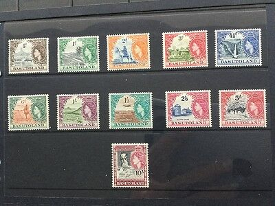 Set of 11 Basutoland stamps definitives of 1954 mounted mint