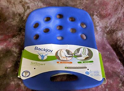 BackJoy SitSmart Posture Plus Lumbar Support Back Sitting Pain Relief  BLUE New