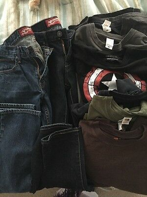 Used Men's Clothing Lot Arizona Jeans 31x32 And XL Short And Long Sleeve Shirts