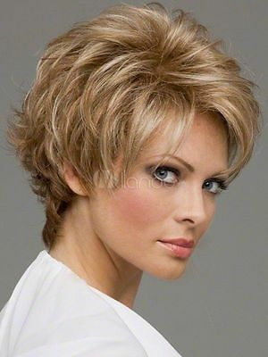 Light Gold Blonde Synthetic Hair Wigs Quality Women's Short Wig