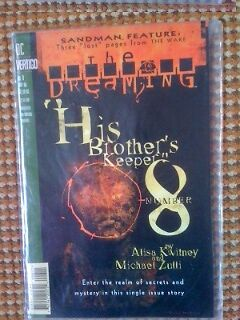 "Dc Vertigo Comics Sandman Feature Issue # 8  Year 1996 ""his Brother's Keeper"""