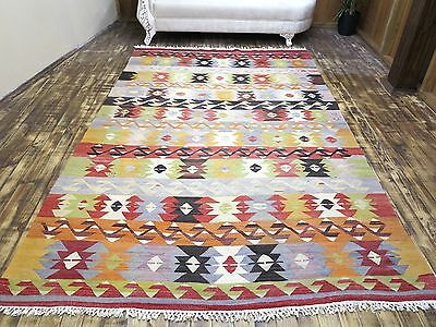 "Anatolia Turkish Nomads  Antalya Kilim 72"" x 115,3"" Area Rug Kelim Carpet Wool"