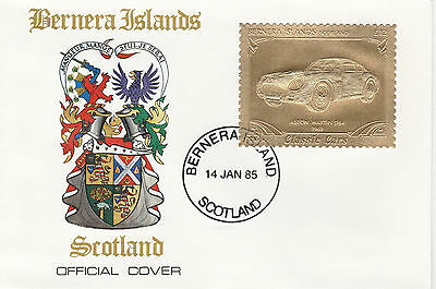 GB Locals - Bernera (2275) - 1985 Gold Cars Aston Martin on First Day Cover