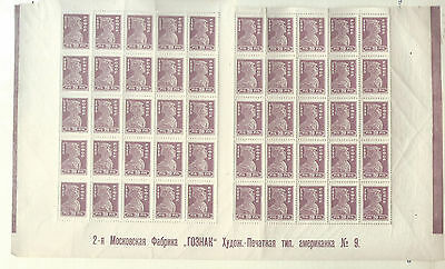 Russia 1923 MNH stamps 20R perf bottom part of sheet printers markings 11.05