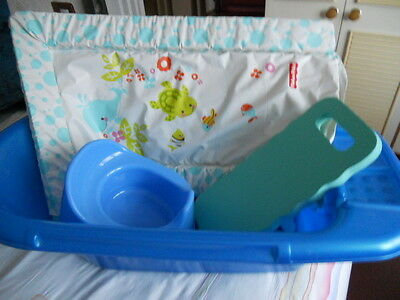 Baby Bath, Potty, Changing Mat and Knee Mat in Blue Joblot