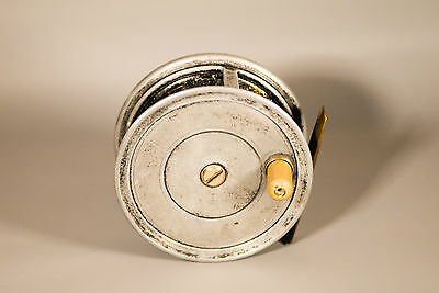 "J W Young 4"" Pattern 1A Wide Drum Salmon Fly Reel"