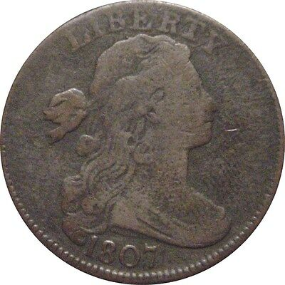 1807 Draped Bust Cent--Attractive Fine
