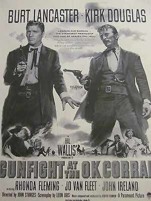 Gunfight at the OK Corral, Kirk Douglas, Full Page Vintage Promotional Ad