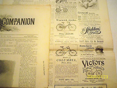 Vintage bicycle ads Bike 1894 Spalding Victor Warwick Columbia Crescent Rouse