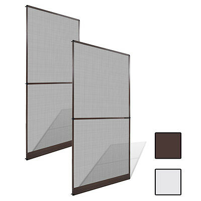 New Hinged Insect Screen for Door Bug Fly Mesh Size-adjustable 2 Sizes 2 Colours