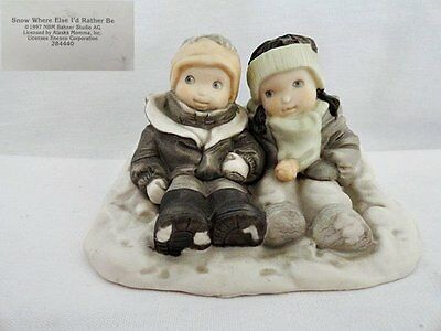 Enesco Kim Anderson Snow Where Else I'd Rather Be Figurine