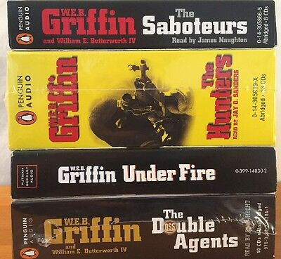 Lot of 4 WEB Griffin Audio CD Books
