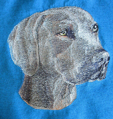 Embroidered Sweatshirt - Weimaraner BT2358  Sizes S - XXL