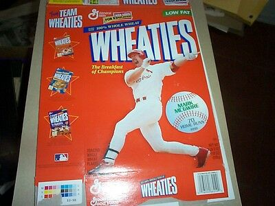 1999 WHEATIES CEREAL BOX--cover MARK McQWIRE