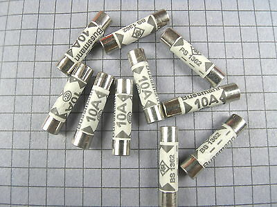 "FUSE : BS1362 : 10A : Ceramic, 6x25mm, 8AG, 1/4"" x 1"" : 10pcs per lot"