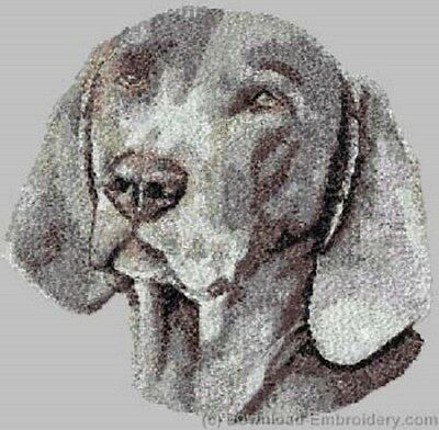 Embroidered Sweatshirt - Weimaraner DLE3849 Sizes S - XXL
