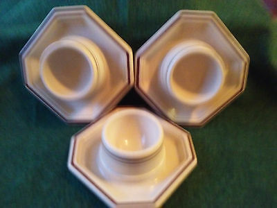Lot Of 3 Matching Egg Cups With Attached Plates, Germany