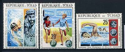 17-02-05300 - Chad 1971 Sass.  379-381 MNH 100% Olympic games Sport Culture