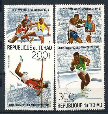 17-02-05322 - Chad 1976 Sass.  742-745 MNH 100% Sport Culture Olympic games