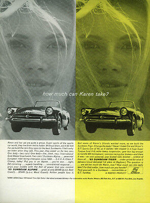 How much can Karen take? Sunbeam Alpine / Sunbeam Tiger ad 1965