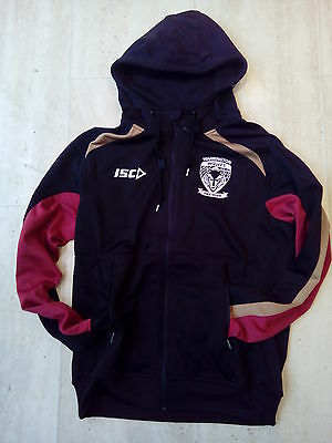 """Bnwt Warrington Wolves Rugby Squad Hoodie Top Jacket Coat Medium 38""""40""""chest"""