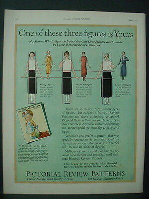 1925 Pictorial Review Clothing Fashion Patterns Vintage Print Ad 11910
