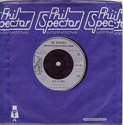 """7"" - THE CRYSTALS - He`s a Rebel - UK-Pressung"