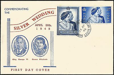 FDC 1948 Royal Silver Wedding illustrated first day cover very fine condition