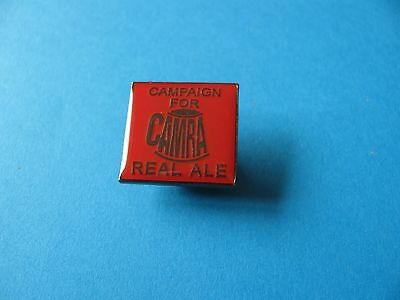 CAMRA, Campaign for Real Ale Beer Pin Badge. VGC. Unused. Red.
