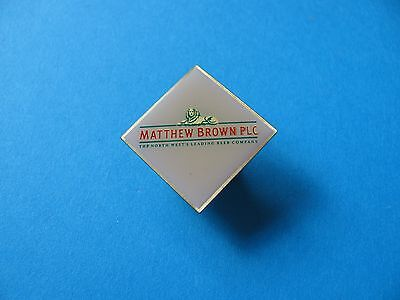 MATTHEW BROWN  plc Brewery Beer Pin Badge, VGC. Unused.