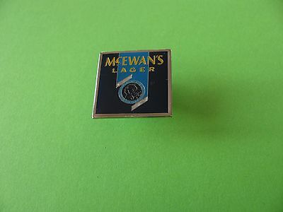 McEWAN'S Lager Beer Brewery Pin Badge. VGC.