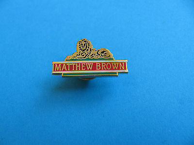 MATTHEW BROWN  Brewery Beer Pin Badge, VGC. Unused. Enamel.