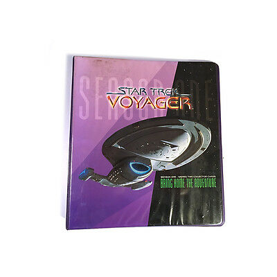 Star Trek Voyager Season One / Two Collector Cards Binder only Skybox 1995