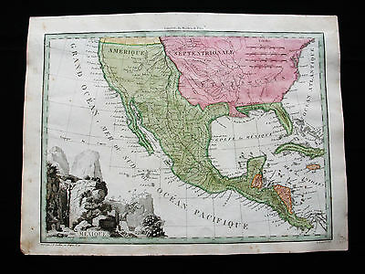 1810/12 M.BRUN & LAPIE- Orig map: CENTRAL AMERICA MEXICO UNITED STATES CARIBBEAN
