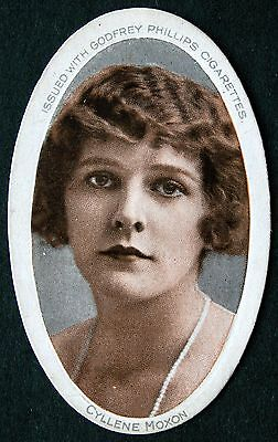 GODFREY PHILLIPS - ACTRESSES - Oval card with name - CYLLENE MOXON - 1916