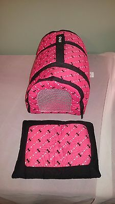 F•A•O• Toy Dog Pet Animal Carrier Travel Red & White Vet Kit & Pillow included