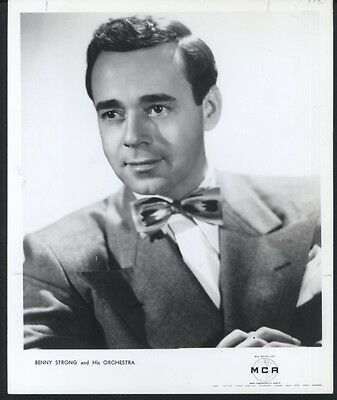 Benny Strong And His Orchestra Mca Records Publicity Press Photo
