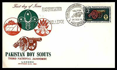 1960 Pakistan Boy Scouts Unsealed Ua Fdc First Day Cover