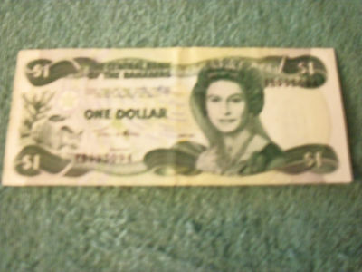 WORLD PAPER MONEY - Bahamas 1 Dollar 2002 in (VF) Condition Banknote P-70