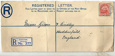 1929 Bermuda Registered cover to England